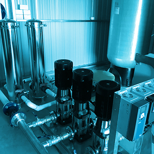 commercial water filtration and pumping system